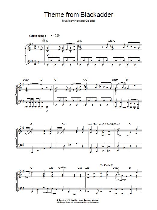 Theme from Blackadder (Piano Solo)