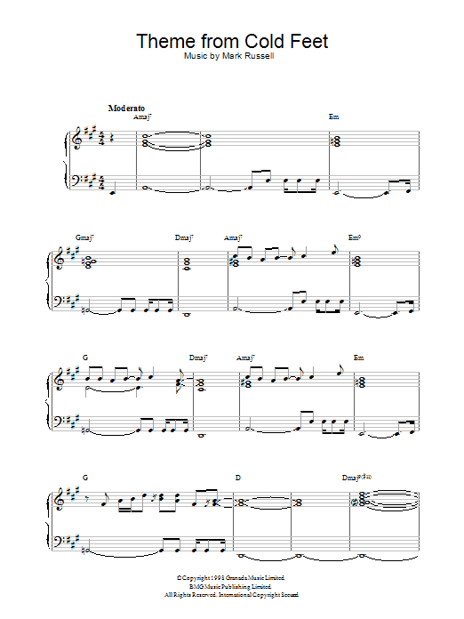 Theme from Cold Feet Sheet Music
