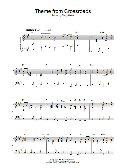 Theme from Crossroads Sheet Music