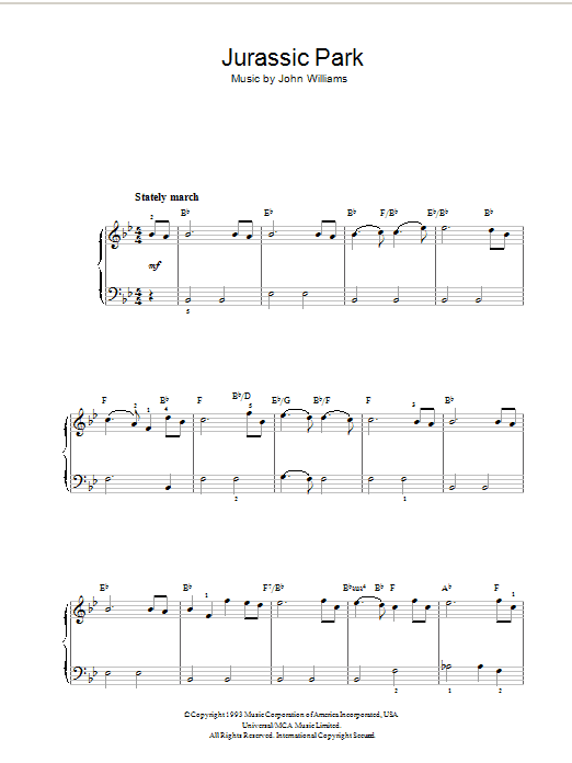 Theme from Jurassic Park (Piano Solo)