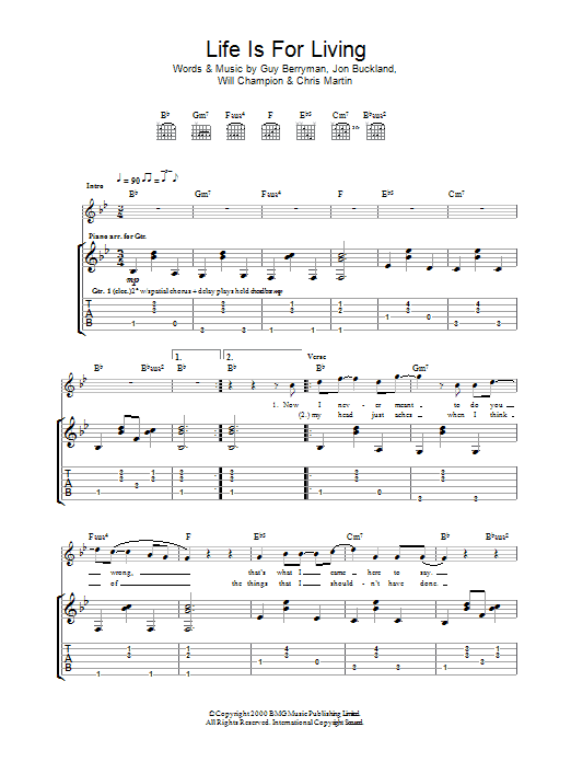 Life Is For Living Sheet Music