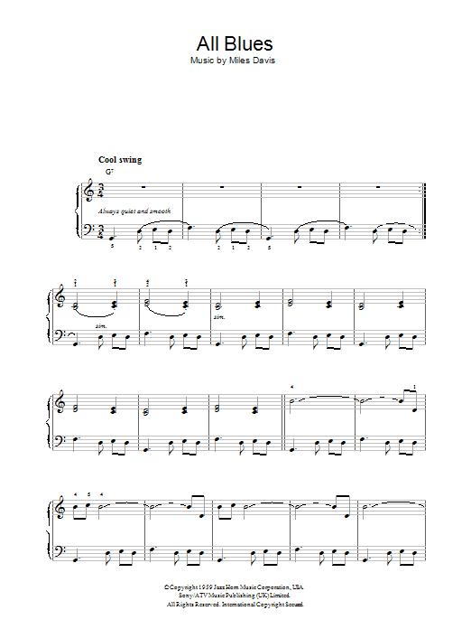 All Blues (Piano Solo)