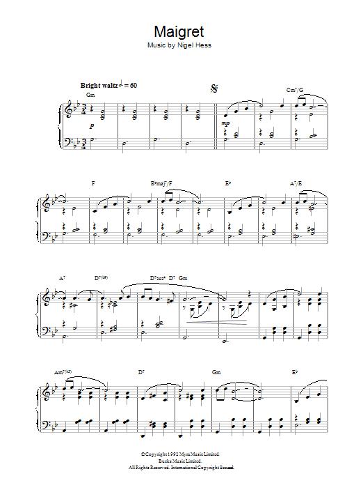 Maigret (Piano Solo)
