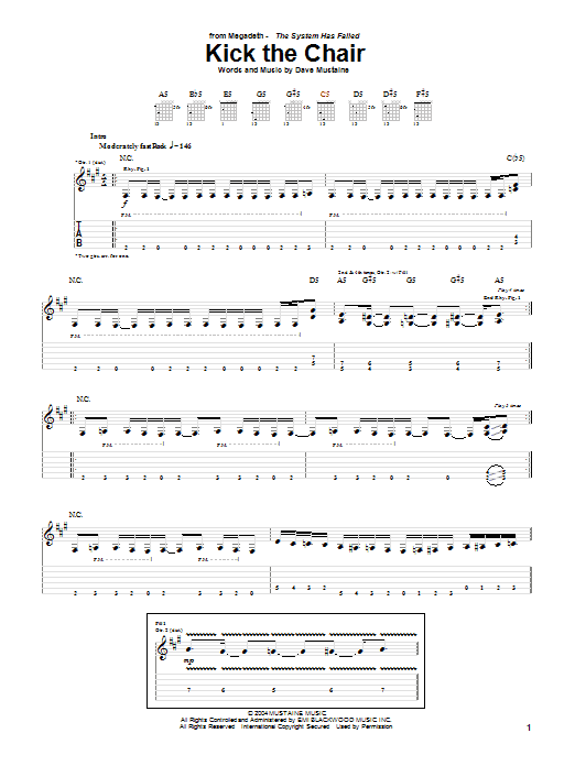 Kick The Chair (Guitar Tab)