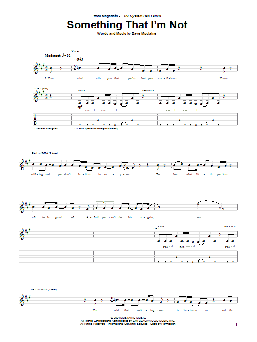 Something I'm Not Sheet Music