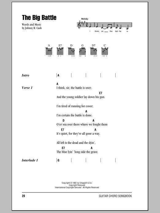 The Big Battle Sheet Music