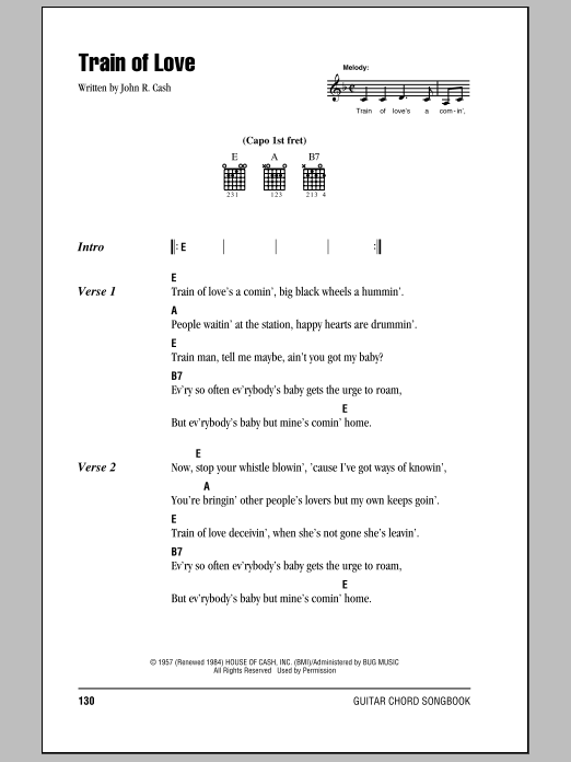 Train Of Love Sheet Music
