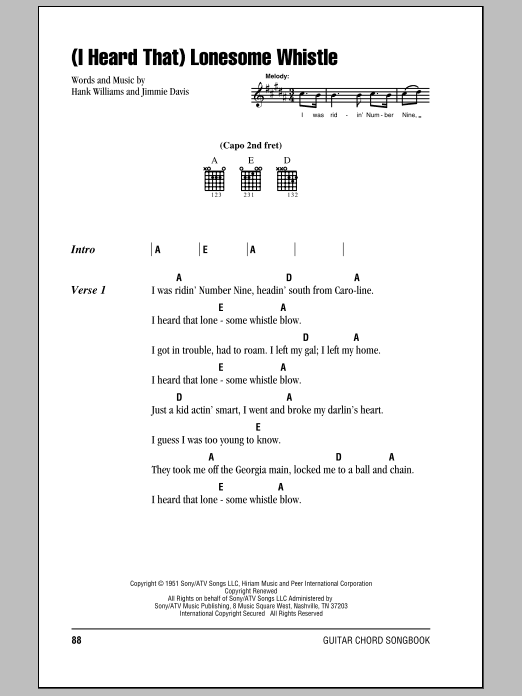 (I Heard That) Lonesome Whistle Sheet Music
