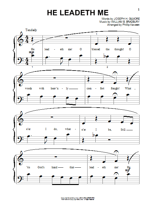He Leadeth Me Sheet Music