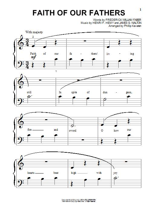Partition piano Faith Of Our Fathers de Frederick William Faber - Autre