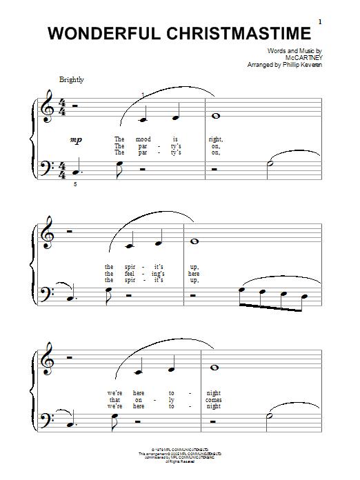 Partition piano Wonderful Christmastime de Paul McCartney - Autre