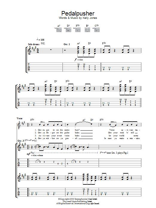 Pedalpusher Sheet Music