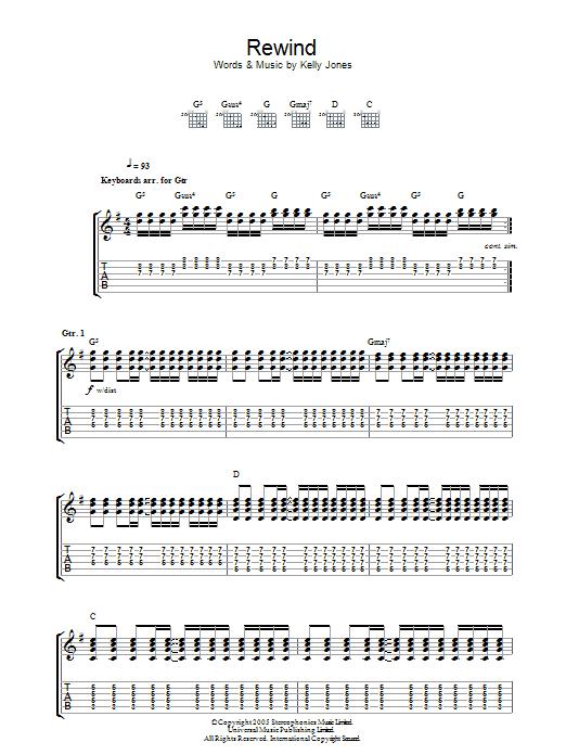 Rewind (Guitar Tab)