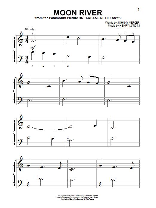 Moon River (Big Note Piano)