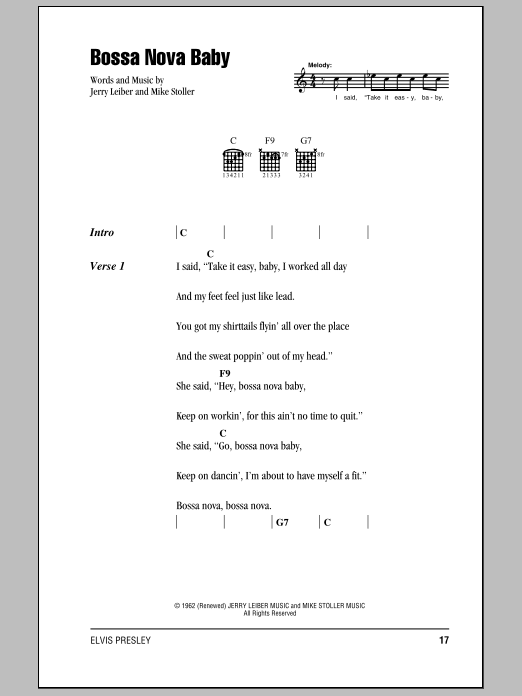 Bossa Nova Baby Sheet Music