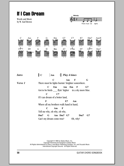 If I Can Dream Sheet Music