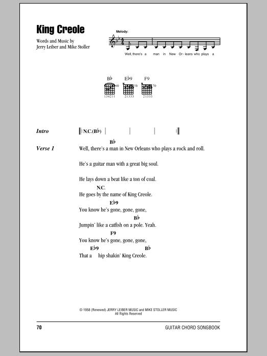 King Creole Sheet Music
