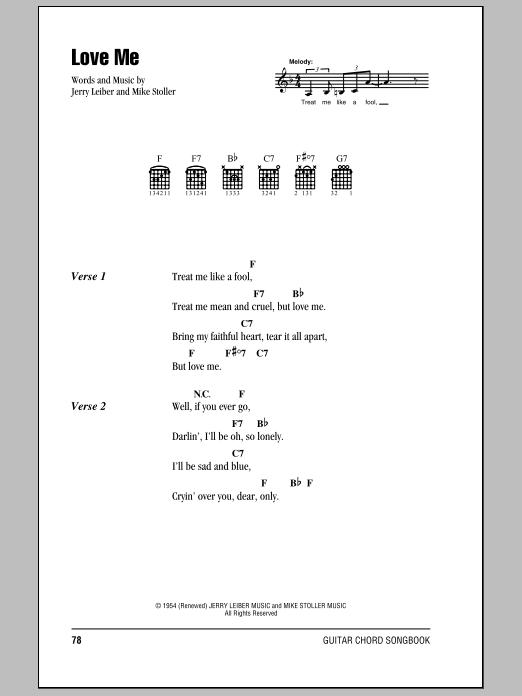 Love Me (Guitar Chords/Lyrics)
