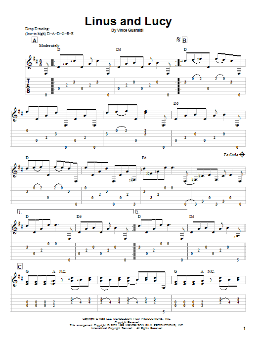Linus And Lucy (Guitar Tab)