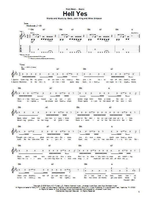 Hell Yes Sheet Music