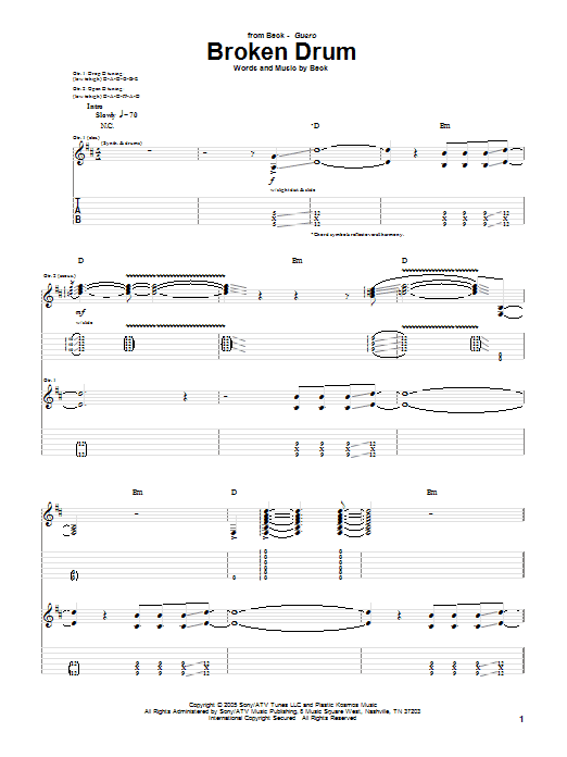 Broken Drum Sheet Music