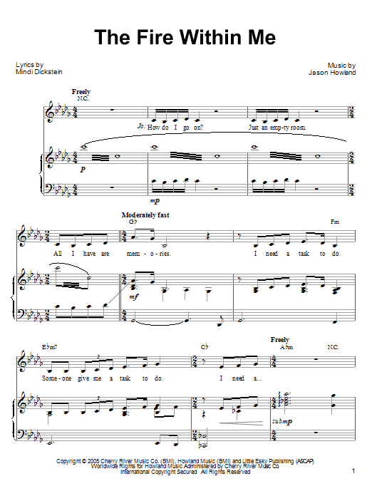 The Fire Within Me (from Little Women: The Musical) Sheet Music
