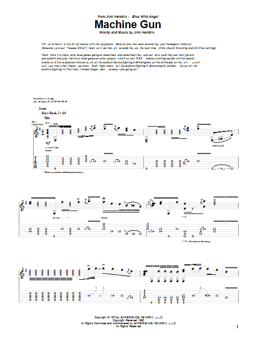 Machine Gun Sheet Music