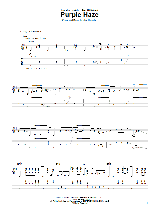 Purple Haze (Guitar Tab)