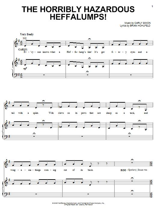 The Horribly Hazardous Heffalumps! (from Pooh's Heffalump Movie) Sheet Music