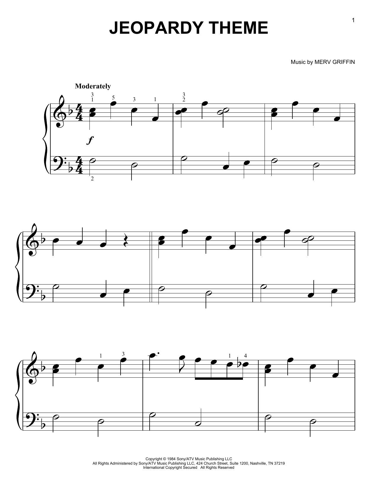 Sheet Music Digital Files To Print - Licensed Film/TV Digital Sheet