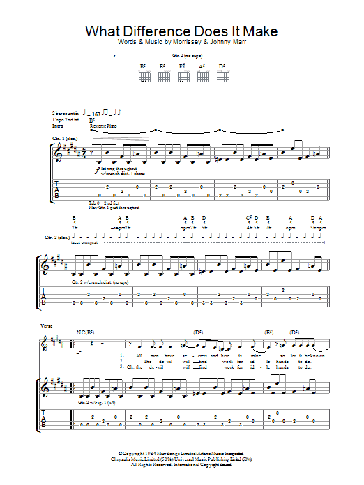 What Difference Does It Make? Sheet Music