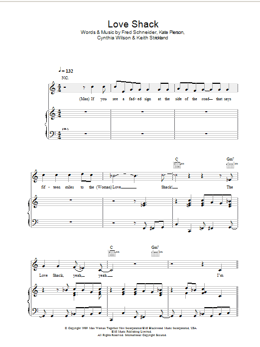 Love Shack Sheet Music