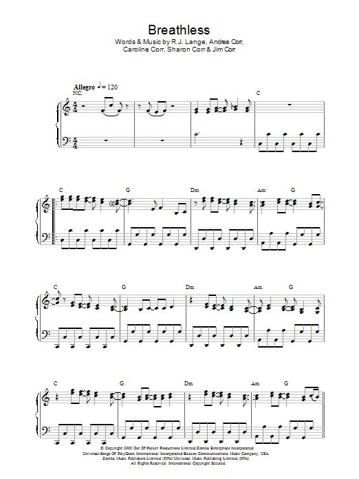 Breathless (Piano Solo)