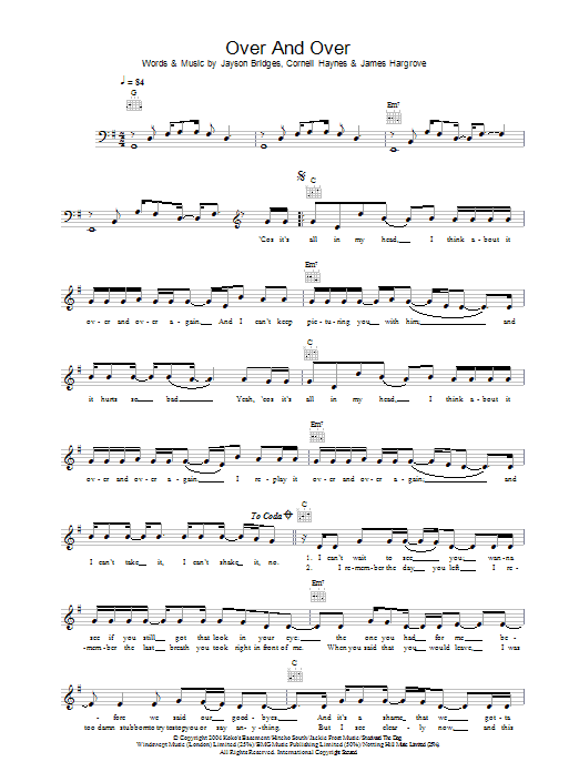 Over And Over (feat. Tim McGraw) Sheet Music