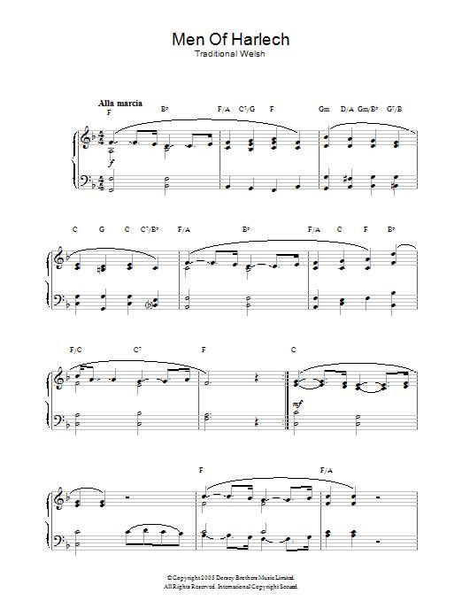 Men Of Harlech (Piano Solo)