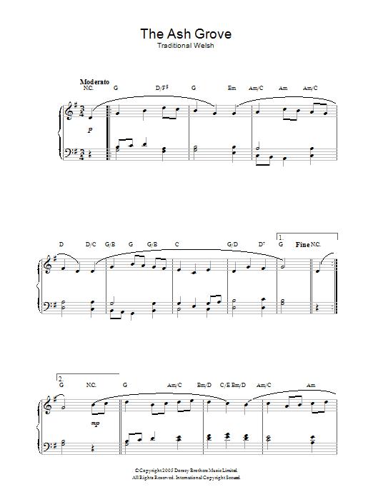 The Ash Grove (Piano Solo)