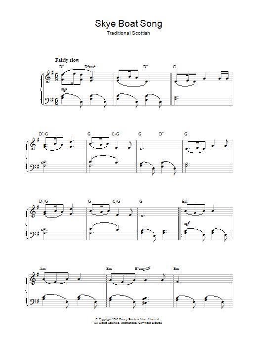 Skye Boat Song (Piano Solo)