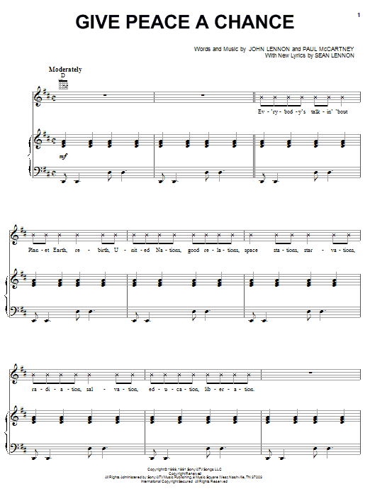 Give Peace A Chance Sheet Music
