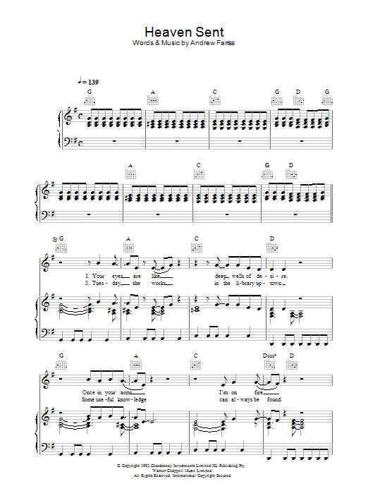 Heaven Sent (Piano, Vocal & Guitar)