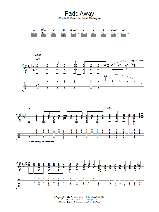 Fade Away Sheet Music