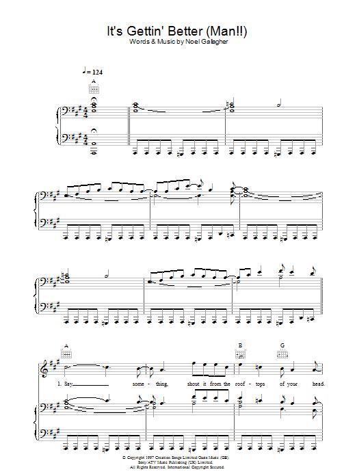 It's Gettin' Better (Man!!) (Piano, Vocal & Guitar)