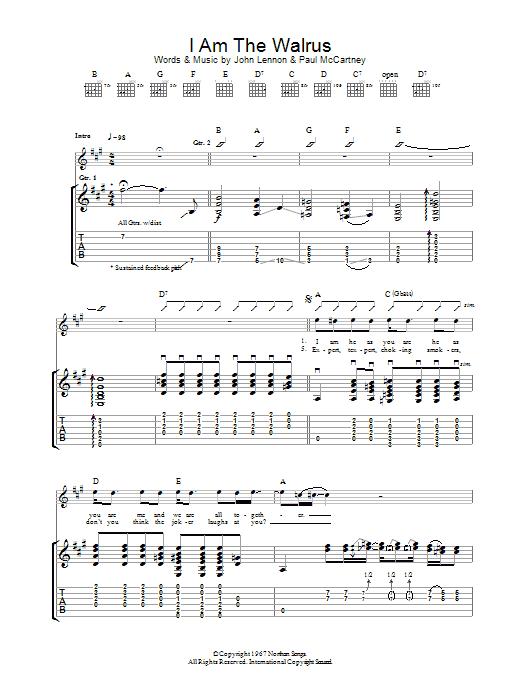 I Am The Walrus (Guitar Tab)