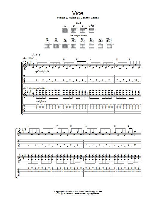 Vice (Guitar Tab)