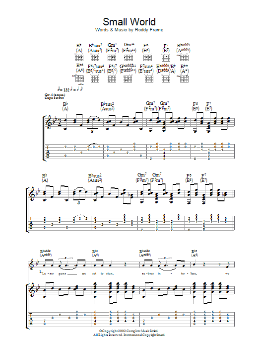 Small World (Guitar Tab)