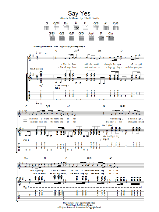 Say Yes Sheet Music Direct