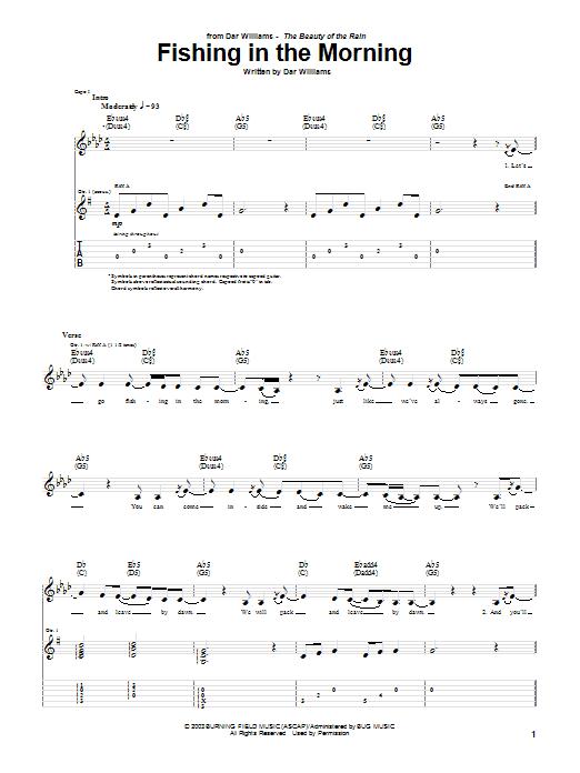 Tablature guitare Fishing In The Morning de Dar Williams - Tablature Guitare