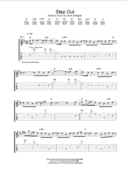 Step Out (Guitar Tab)