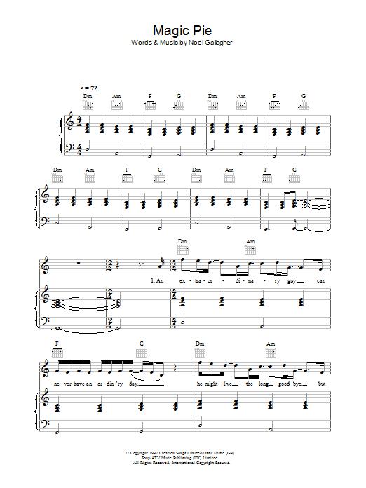 Magic Pie (Piano, Vocal & Guitar)