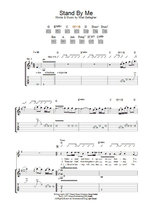 Oasis Wonderwall Chords And Lyrics