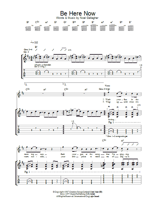 Be Here Now Sheet Music